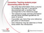 convention teaching students proper documenting within the text