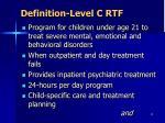 definition level c rtf