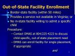 out of state facility enrollment