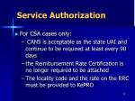 service authorization2