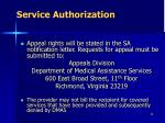 service authorization9
