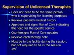 supervision of unlicensed therapists