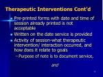 therapeutic interventions cont d1