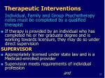 therapeutic interventions1