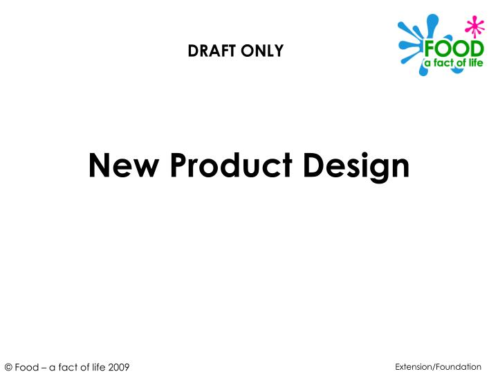 new product design n.