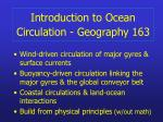 introduction to ocean circulation geography 163