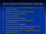 bonar mensen die god gebruikt in opleving