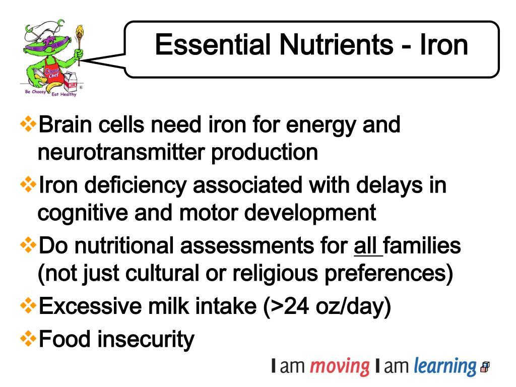 Essential Nutrients - Iron
