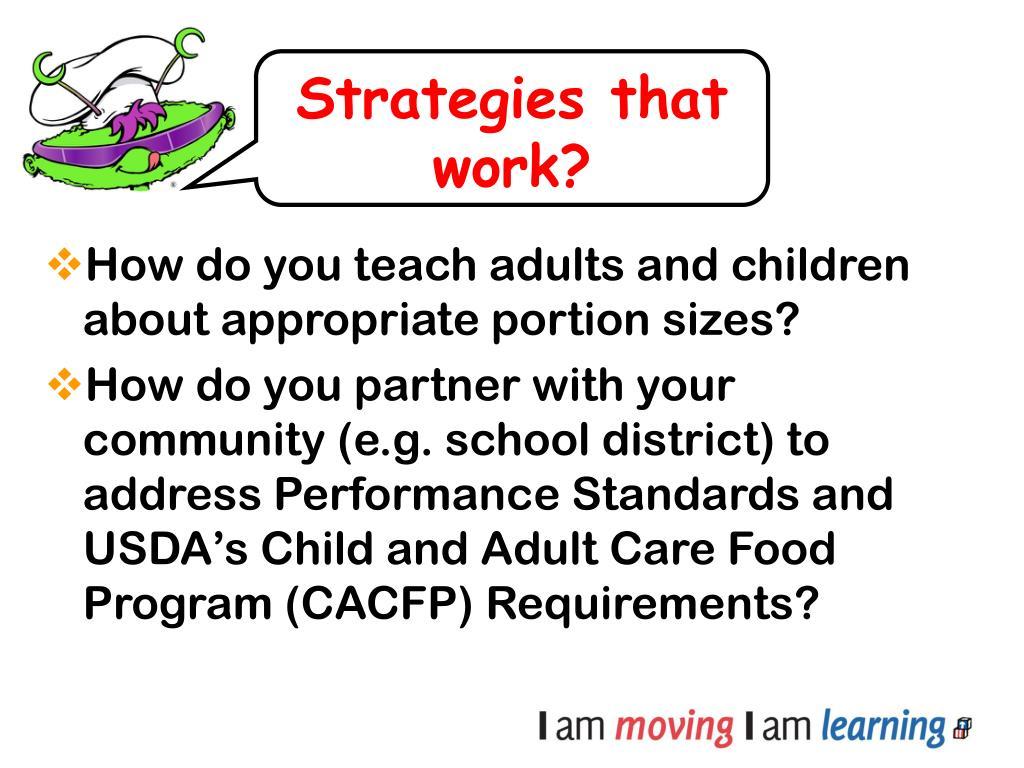 Strategies that work?