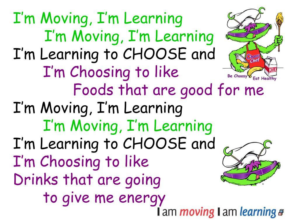 I'm Moving, I'm Learning