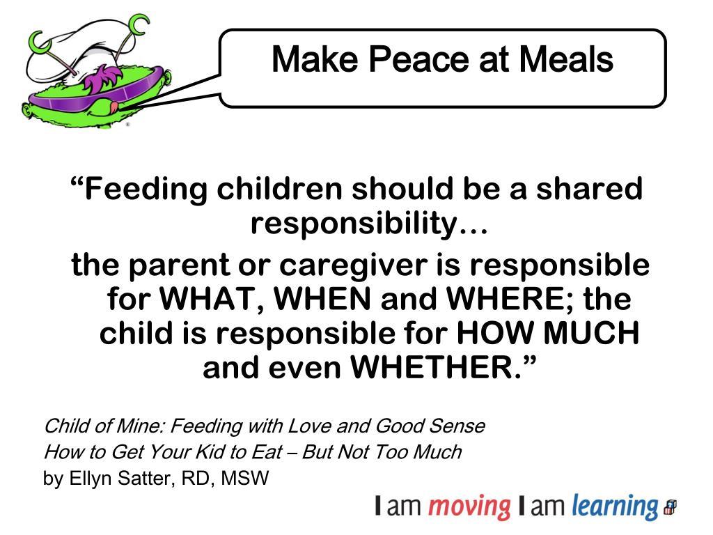 Make Peace at Meals