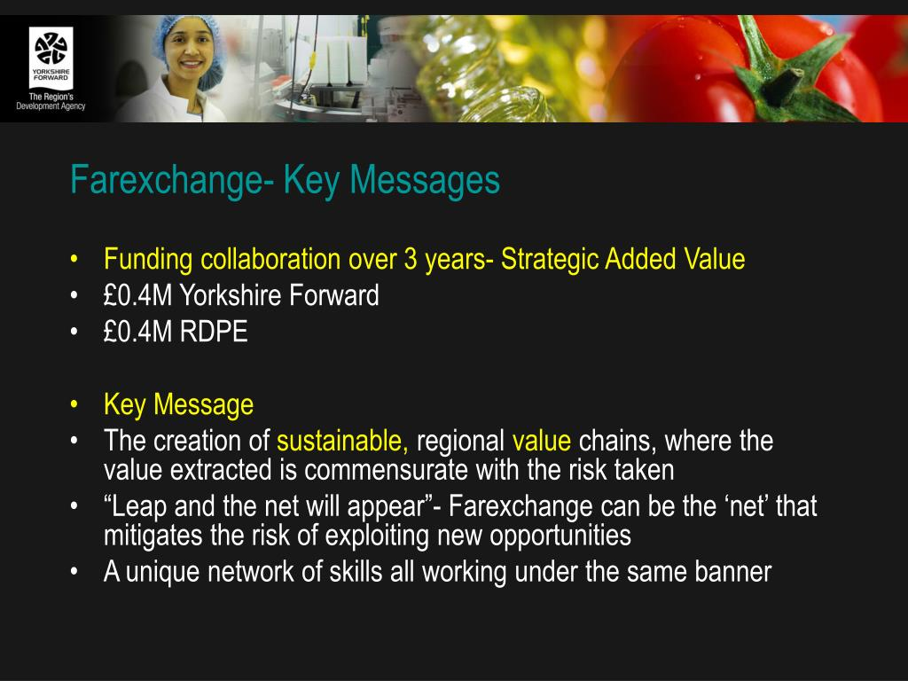 Farexchange- Key Messages