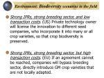 environment biodiversity scenarios in the field