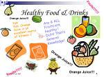 healthy food drinks