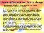human influences on climate change