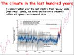 the climate in the last hundred years2