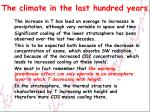 the climate in the last hundred years3