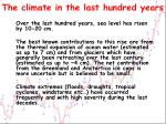 the climate in the last hundred years4