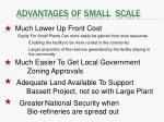 advantages of small scale
