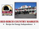 red birch country markets