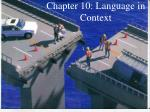 chapter 10 language in context
