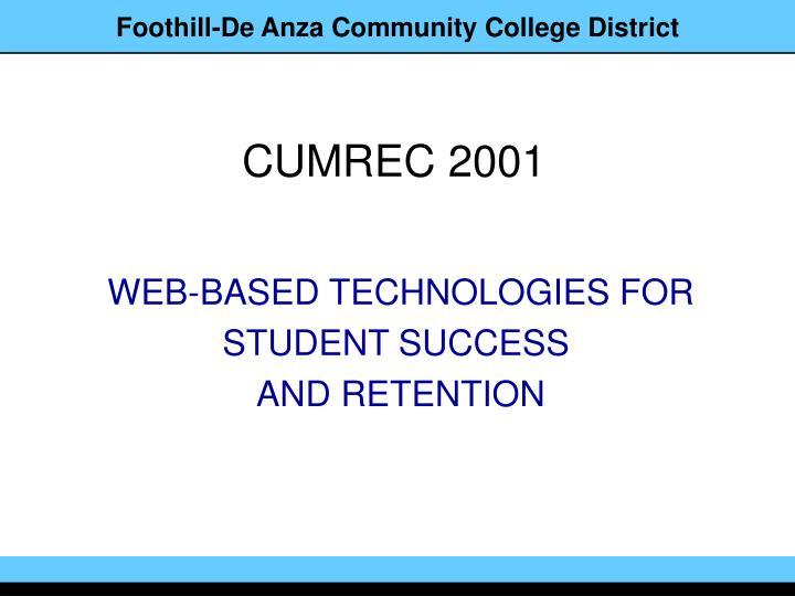 web based technologies for student success and retention n.