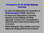 consequences for the foreign language classroom