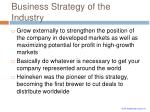 business strategy of the industry