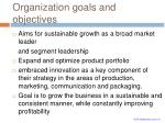 organization goals and objectives