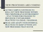 new processes are coming