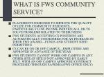 what is fws community service