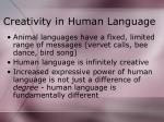creativity in human language