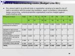 2 4 4 3 subcontracting costs budget line b2