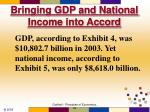 bringing gdp and national income into accord