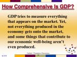 how comprehensive is gdp