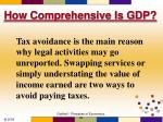 how comprehensive is gdp4