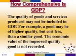 how comprehensive is gdp6