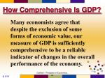 how comprehensive is gdp9