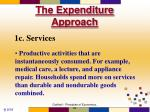 the expenditure approach10