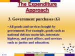 the expenditure approach14