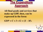 the expenditure approach16
