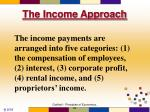 the income approach2