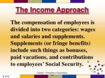 the income approach3
