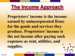 the income approach6