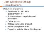 data collection ethical considerations