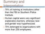 summary and interpretation