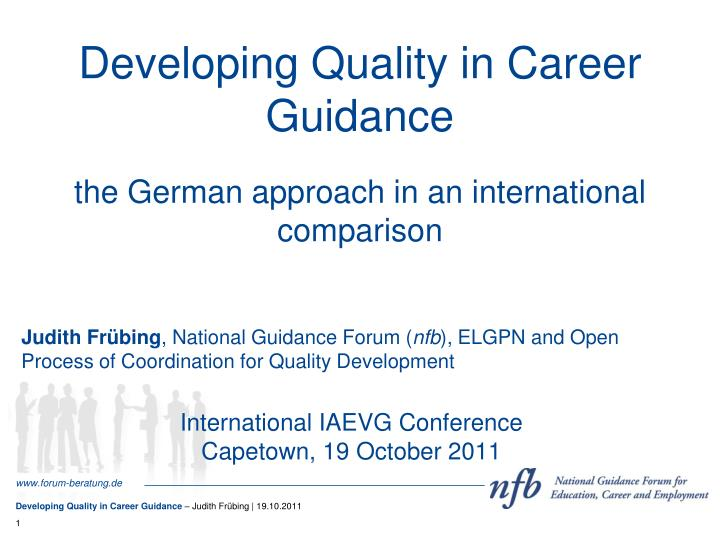 developing quality in career guidance n.