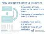 policy development bottom up mechanisms