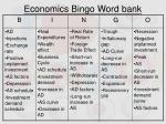economics bingo word bank