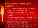 five steps to resolve anger1